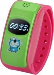 Smartwatch Star City Silicon Pentru Copii GPS Roz Resigilat smartwatch