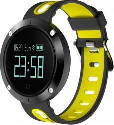 Smartwatch Star EM58 Monitorizare Puls IP68 Waterproof Galben - Negru Smartwatch
