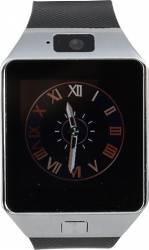 Smartwatch Star Rush Carcasa Argintie Curea Silicon Neagra - SIM