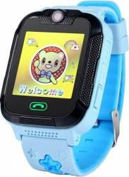 pret preturi Smartwatch Wonlex pentru copii GW2000 GPS SIM WiFi buton SOS monitorizare spion compatibil Digi Albastru