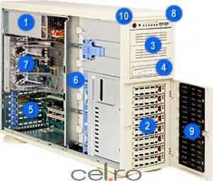 Carcasa Server Supermicro TW 760W EATXSC743 sm cse-743t-r760 Carcase server