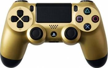 Controller Sony Dualshock 4 V2 pentru PlayStation 4 Gold Gamepad & Joystick
