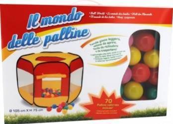 Spatiu de joaca cort cu 70 bile multicolore Globo pentru copii  Corturi si Casute copii
