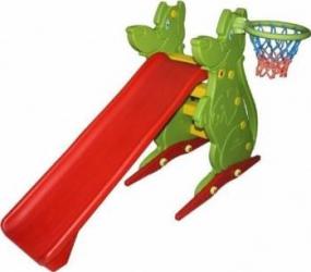 Spatiu de joaca cu tobogan si cos de basket Spatii de joaca si accesorii