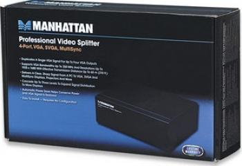 Splitter VGA Manhattan HD15-Male - 4xHD15-Female