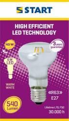 Spot LED Reflector, R63, E27, 6W, START, 540lm Becuri