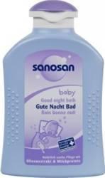 Spuma de baie pentru copii Sanosan Good Night Bath 200ml Cadite, prosoape si accesorii baie