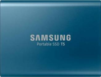 SSD Extern Samsung T5 500GB USB 3.1 2.5 inch Blue Hard Disk uri Externe