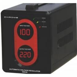 Stabilizator automat de tensiune cu releu transformator AVR-REL-500VAGY-CHR 300W Well Stabilizatoare de tensiune