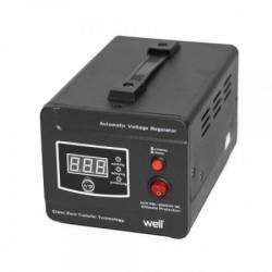 Stabilizator de tensiune cu transformator 600W Negru Well Stabilizatoare de tensiune