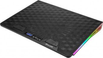 pret preturi Stand Cooler Laptop Gaming Marvo FN-39 Max 17inch Iluminare cu 7 culori si 3 efecte RGB USB Inclinare reglabila Negru