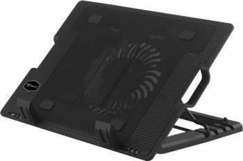 pret preturi Stand Racire Laptop Sbox CP-12 17.3 inch 5 pozitii 2x USB Ventilator LED Albastru