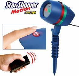 Star Shower Motion Proiectie lumini laser Efect 3D holografic Interior-Exterior cu telecomanda