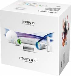 Starter Kit EU Fibaro Alb Kit Smart Home si senzori