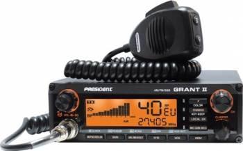Statie radio CB President Grant II ASC AMFMSSB cu squelch automat Statii radio