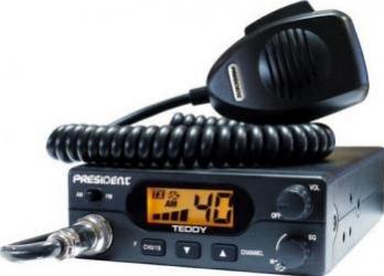 Statie radio CB President Teddy ASC cu squlech automat Statii radio