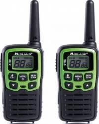Statie radio PMR portabila Midland XT30 set cu 2 buc. verde C1177 include acumulatori