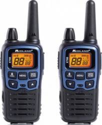 Statie radio PMR-LPD portabila Midland XT60 2 buc-set Albastru metalic Statii radio