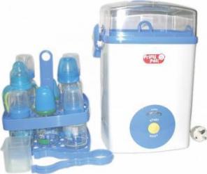 Sterilizator electric Primii Pasi R0905 cu aburi, pentru 8 biberoane White Sterilizatoare biberoane