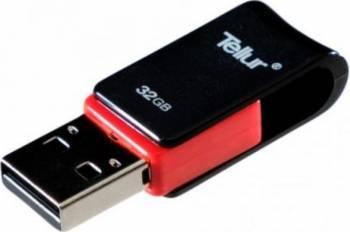 USB Flash Drive Tellur OTG USB 2.0 32GB microUSB Negru cu Rosu