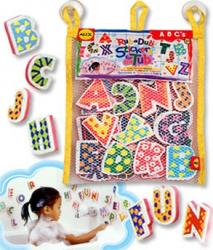 Stickere pentru baie Litere Alex Toys Cadite, prosoape si accesorii baie