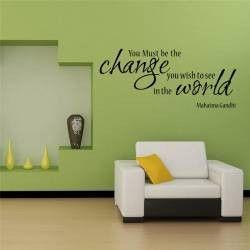 Citate Motivationale Despre Fotografie : Stickere citate motivationale you must be the change you want to