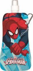 Sticla speciala pliabila BBS Spiderman cu sistem de prindere 480 ml