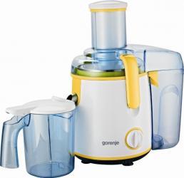 Storcator de fructe si legume Gorenje JC800Y, 800 W, Recipient suc 1 l, Recipient pulpa 2 l, Tub de alimentare larg, Ga