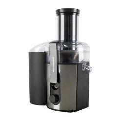 Storcator de fructe Heinner HJE-1000IX 1000 W Inox Slefuit recipiente pentru suc/pulpa 2 viteze Negru/ Inox Storcatoare