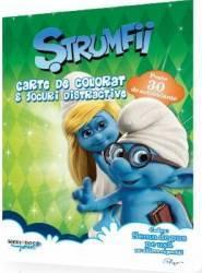Strumfii - Carte de colorat si jocuri distractive