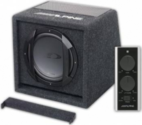Subwoofer Auto Alpine SWE-815 Amplificat Ready-to-use Subwoofer Auto