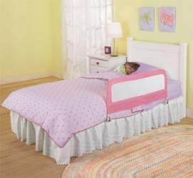 Protectie Pliabila Pentru Pat Pink  Decoratiuni camera