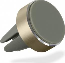 Suport auto telefon magnetic Kit universal Auriu prindere aerisire Car Kit-uri