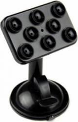 Suport auto Universal cu ventuze pentru telefon/gps/tableta, negru Accesorii Diverse Telefoane