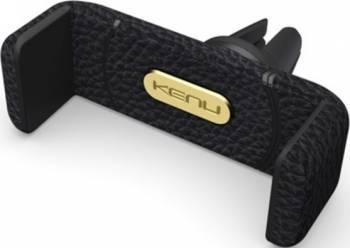 Suport Auto Universal Kenu Airframe Leather Car Holder Negru Car Kit-uri