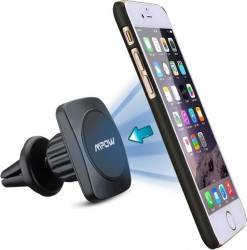 Suport Auto Universal Pentru Telefoane Magnetic Rotativ 360 Mpow Grip Magic Air Vent