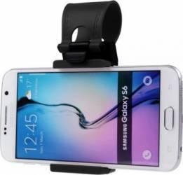 Suport auto Universal pentru telefon cu prindere pe volan Negru Car Kit-uri