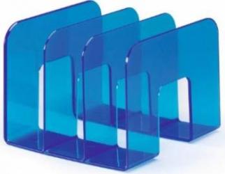 Suport catalog Durable Trend albastru transparent
