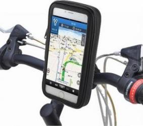 Suport de telefon pentru bicicleta cu husa rezistenta la intemperii, negru Accesorii Diverse Telefoane