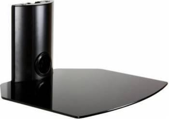 Suport DVD pentru perete 4World tip Raft clema max. 10kg Negru Accesorii diverse pentru TV-uri