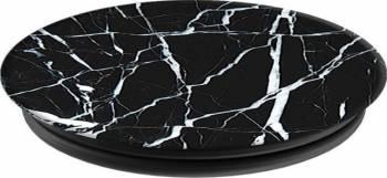 Suport Popsockets Universal Stand Adeziv Marble Negru