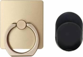 Suport stand inel OEM Ring cu minisuport auto inclus, auriu Accesorii Diverse Telefoane