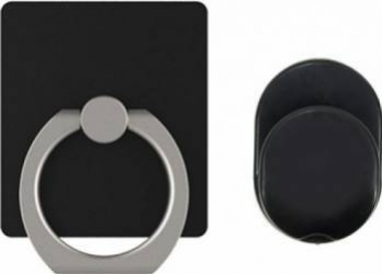 Suport Universal PNI O-Ring, Desk Stand si Smart Grip Negru Suport Auto Inclus