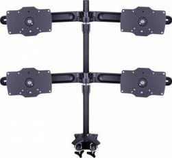 Suport 4 monitoareLCD birou Multibrackets 15-32 negru 4 brate cu clema prindere pe birou Suporturi TV
