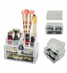 Suport Organizator Transparent Pentru Cosmetice Si Bijuteri 9