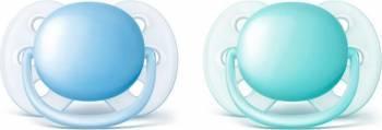Suzeta Philips Ultramoale 6 - 18 luni Blue-Aqua Suzete si accesorii
