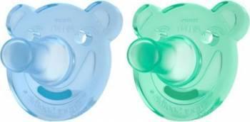Suzeta Philips Soothie 3 luni+ Blue-Green Suzete si accesorii