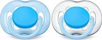 Suzete Philips cu Flux Liber 6 - 18 luni Blue-Transparent Suzete si accesorii