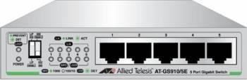 Switch Allied Telesis AT-GS910 5 porturi Gigabit cu Sursa de Alimentare Externa Switch uri