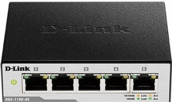 Switch D-Link 5 port-uri Gigabit DGS-1100-05 Switch uri
